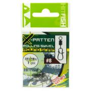 HITFISH X-Patten Rolling Swivel With V-Snap #8 (30lb/14kg) (7 шт/уп )