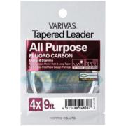 VARIVAS Подлесок флюорокарбоновый All Purpose Fluorocarbon Tapered Leader #Natural