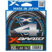YGK Шнур плетеный  X-Braid Braid Cord X4 (150m)