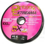Леска плетеная Pontoon21 Extreema, 0.330 мм, 50Lb, 100м, многоцв., 4-жил.