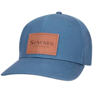 SIMMS Кепка Leather Patch Cap #Dark Moon