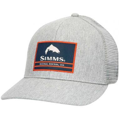 SIMMS Кепка Original Patch Trucker #Heather Grey