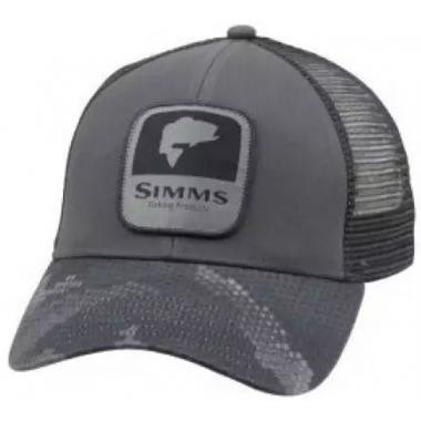 SIMMS Кепка Patch Trucker #Hex Camo Carbon