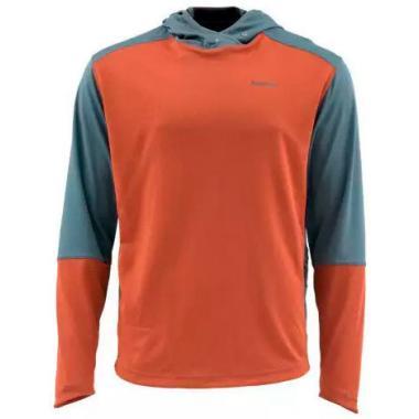 SIMMS Термофутболка SolarFlex Sport Hoody #Simms Orange