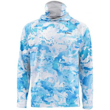 SIMMS Термофутболка SolarFlex UltraCool Armor #Cloud Camo Blue