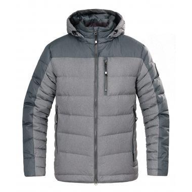 RED FOX Куртка пуховая BERGEN, Серый/Асфальт р.XL