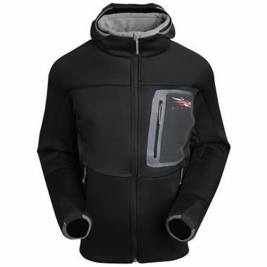 SITKA Толстовка Traverse Cold Weather Hoody #Black