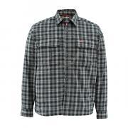 SIMMS Рубашка Coldweather LS Shirt #Black Plaid