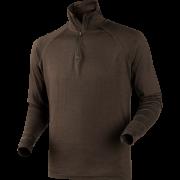 All Season shirt zip-neck Shadow brown M