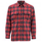 SIMMS Рубашка Coldweather LS Shirt #Red Buffalo Plaid